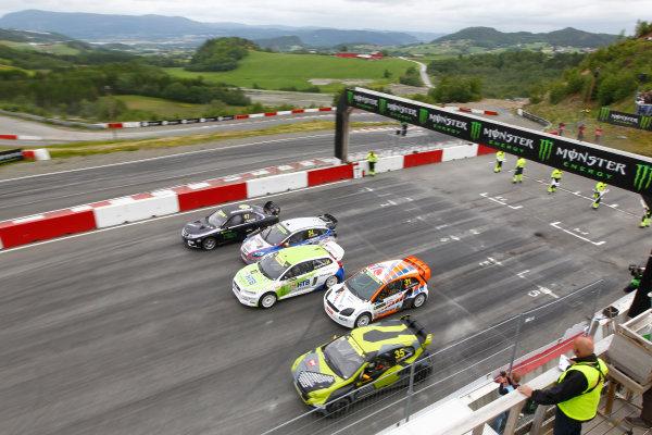 2014 FIA World Rallycross Championship Round 3 Hell, Norway 14th - 15th June 2014 Supercars, start Worldwide Copyright: McKlein/LAT