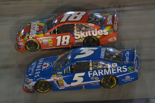 March 14-16, 2014, Bristol, Tennessee, USA.    Kyle Busch, Skittles Toyota Camry and Kasey Kahne  ©2014, John Harrelson / LAT Photo USA