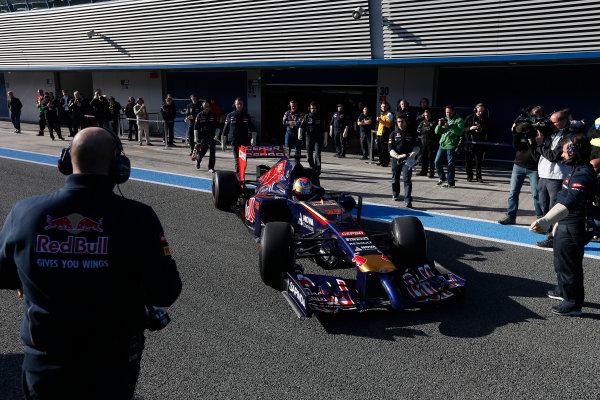 2014 F1 Pre Season Test 1 - Preview Circuito de Jerez, Jerez, Spain. Tuesday 28 January 2014. Jean-Eric Vergne, Toro Rosso STR9 Renault. World Copyright: Andrew Ferraro/LAT Photographic. ref: Digital Image _79P0690