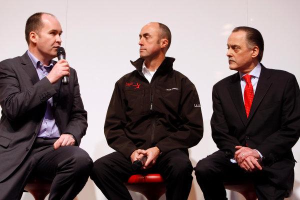NEC, Birmingham. 14th January 2010.Robert Reid, David Brabham and Colin Hilton on stage. Portrait.World Copyright: Alastair Staley/LAT Photographicref: Digital Image _O9T0494