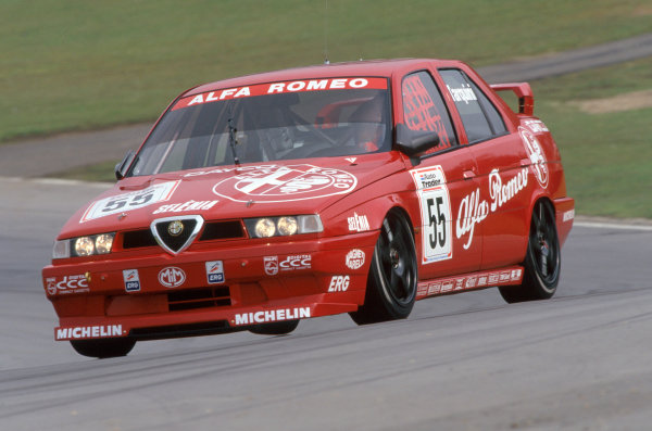 1994 British Touring Car Championship Brands Hatch, Kent, Great Britain Gabriele Tarquini (Alfa Romeo 155 TS).World Copyright: LAT Photographic