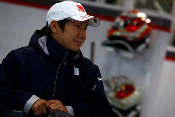 Suzuka Circuit, Suzuka, Japan.9th October 2010.Kamui Kobayashi, BMW Sauber C29 Ferrari. Portrait. World Copyright:Charles Coates/LAT Photographicref: Digital Image _26Y8168