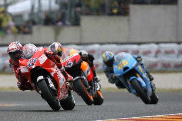 Gran Premio D'Itali Alice.Mugello, Italy. 31st May 2009.Casey Stoner Ducati Marlboro Team leads Andrea Dovizioso and Loris Capirossi.World Copyright: Martin Heath/LAT Photographicref: Digital Image BPI_Moto 8k3j