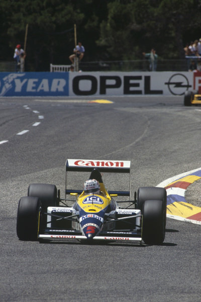 Paul Ricard, Le Castellet, France. 1st - 3rd July 1988.Nigel Mansell (Williams FW12-Judd), retired, action. World Copyright: LAT Photographic.Ref:  88FRA