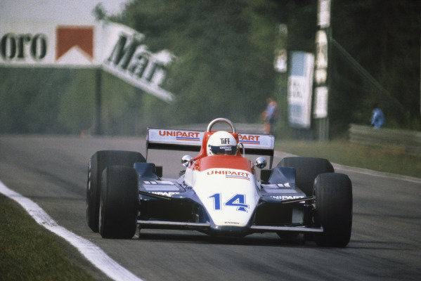 Zolder, Belgium. 2 - 4 May 1980.Tiff Needell (Ensign N180-Ford), DNQ, action. World Copyright: LAT Photographic.Ref:  80 BEL