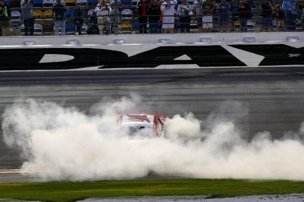 20-21 February 2015, Daytona Beach, Florida, USA Winner Ryan Reed burnout ©2015, Michael L. Levitt LAT Photo USA
