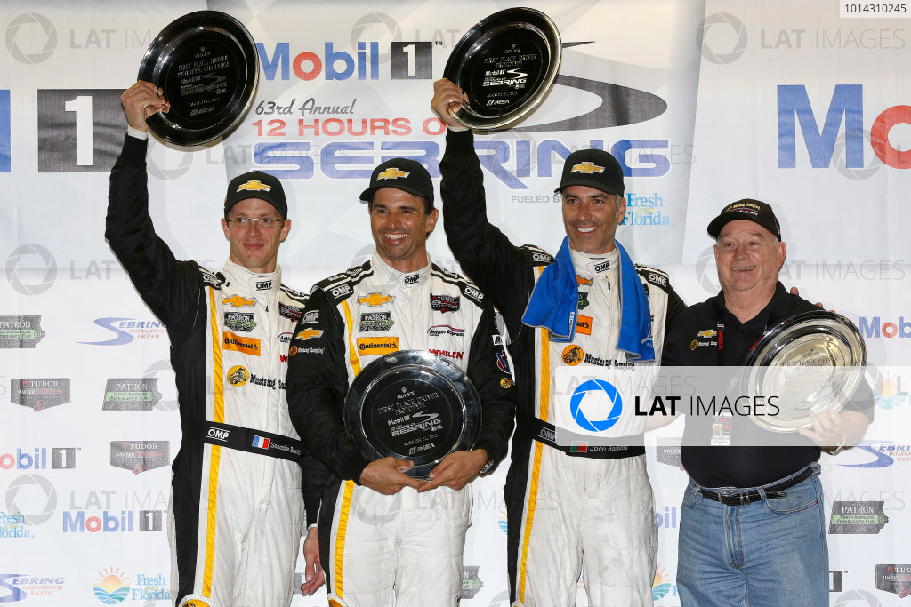 19-21 March, 2015, Sebring, Florida, USA Winners  5, Chevrolet, Corvette DP, P, Joao Barbosa, Christian Fittipaldi, Sebastien Bourdais, ©2015, Michael L. Levitt LAT Photo USA