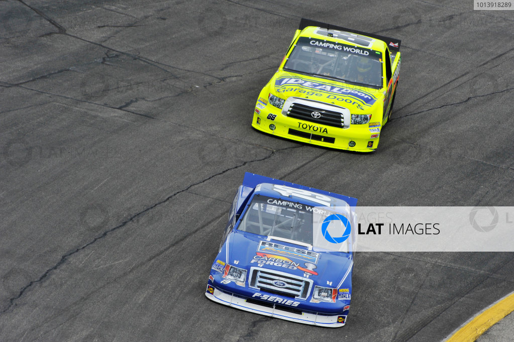 13-14 April, 2013, Rockingham, North Carolina USA Joey Logano, Matt Crafton ©2013, Scott R LePage LAT Photo USA