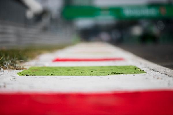 2017 FIA Formula 2 Round 9. Autodromo Nazionale di Monza, Monza, Italy. Thursday 31 August 2017. Kerbs. Photo: Zak Mauger/FIA Formula 2. ref: Digital Image _54I4859