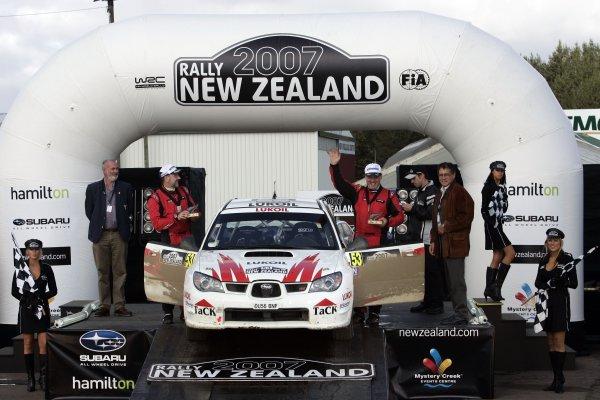 2007 FIA World Rally Champs. Round 11Rally New Zeland, 31st  August - 2nd  September 2007Niall McShea, Subaru, podiumWorld Copyright: McKlein/LAT