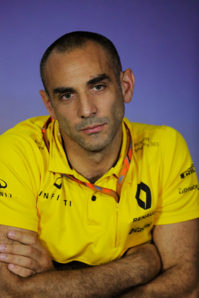 Baku City Circuit, Baku, Azerbaijan. Friday 23 June 2017. Cyril Abiteboul, Managing Director, Renault Sport F1, in the Team Principals' Press Conference. World Copyright: Zak Mauger/LAT Images ref: Digital Image _54I0956