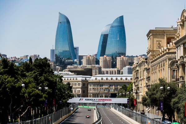 2017 FIA Formula 2 Round 4. Baku City Circuit, Baku, Azerbaijan. Friday 23 June 2017. Robert Visoiu (ROU, Campos Racing)  Photo: Zak Mauger/FIA Formula 2. ref: Digital Image _56I6679