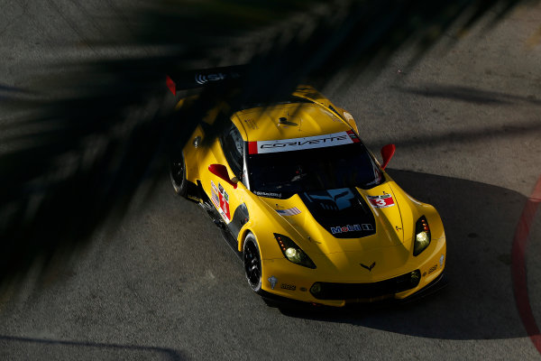 17-18 April, 2015, Long Beach, California USA  3, Chevrolet, Corvette C7.R, GTLM, Jan Magnussen, Antonio Garcia ©2015, Michael L. Levitt LAT Photo USA