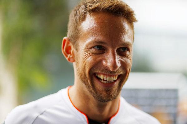 Sepang International Circuit, Sepang, Malaysia. Thursday 29 September 2016. Jenson Button, McLaren. World Copyright: Steven Tee/LAT Photographic ref: Digital Image _O3I9410