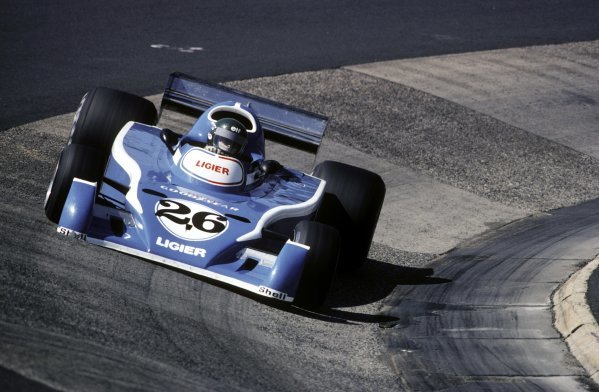 Jacques Laffite (FRA) Ligier JS5 retired on the first lap of the restarted race with a broken gearbox.