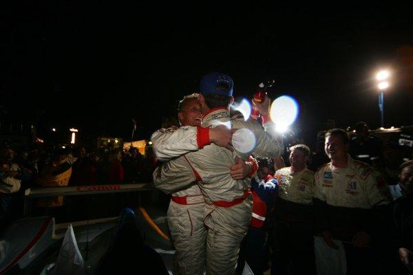 2004 American Le Mans Series (ALMS)Laguna Seca, California, USA. 15 - 16 October.Herbert and Kaffer celebrate in victory lane.World Copyright: Richard Dole/LAT Photographicref: Digital Image Only