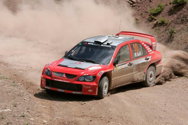 2004 FIA World Rally Champs. Round seven, Rally Turkey.24th- 27th June 2004.Gigi Gali, Mitsubishi, action.World Copyright: McKlein/LAT