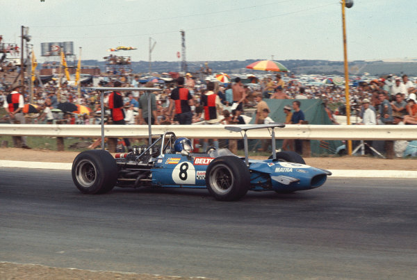 1969 South African Grand Prix.Kyalami, South Africa.27/2-1/3 1969.Jean Pierre-Beltoise (Matra MS10 Ford) 6th position.Ref-69 SA 19.World Copyright - LAT Photographic