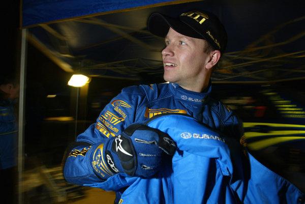 2003 FIA World Rally Championship. Karlstad, Sweden. Rd2.6-9 February 2003.Petter Solberg (Subaru) 6th position.World Copyright: McKlein/LAT Photographic
