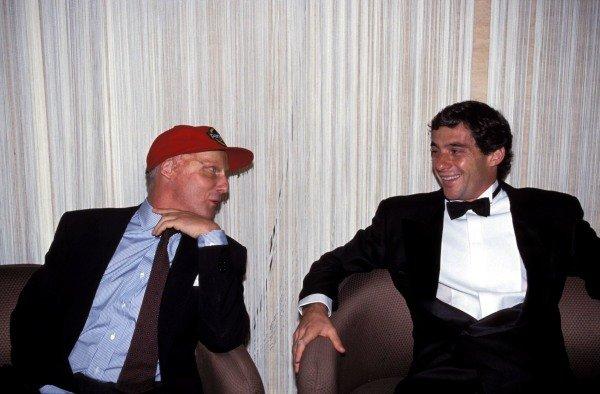 Niki Lauda and Ayrton Senna.