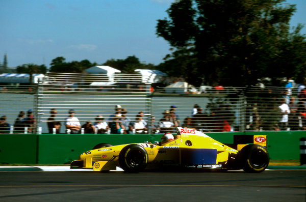 Albert Park, Melbourne, Australia.8-10 March 1996.Luca Badoer (Forti FG01 95B Ford) failed to qualify.Ref-96 AUS 34.World Copyright - LAT Photographic