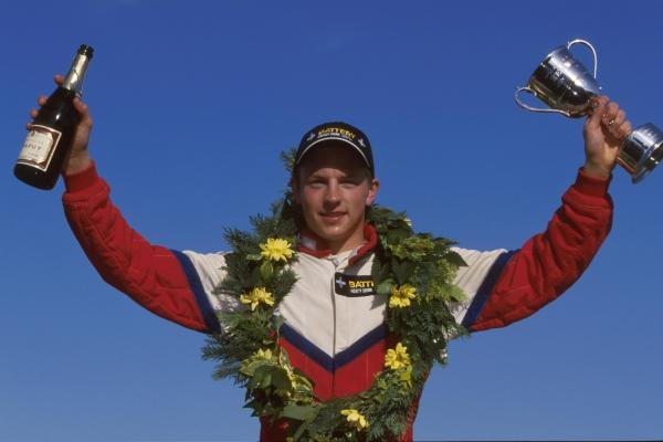 Kimi Raikkonen (FIN) - 1st place British Formula Renault Championship, Croft, England. 25 June 2000