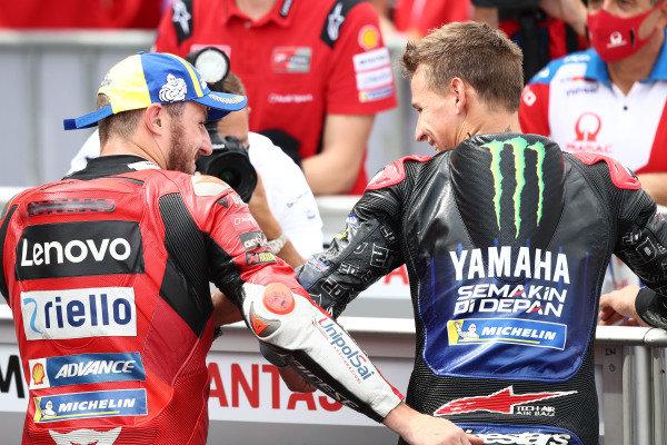 Jack Miller, Ducati Team Fabio Quartararo, Yamaha Factory Racing.