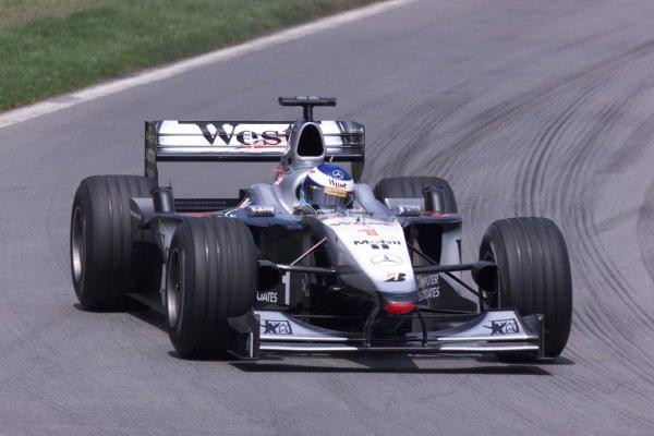 2000 Canadian Grand Prix.Montreal, Quebec, Canada.16-18 June 2000.Mika Hakkinen (McLaren MP4/15 Mercedes) 4th position.World Copyright - LAT Photographic