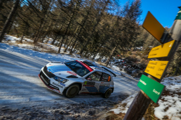 2017 FIA World Rally Championship, Round 01, Rally Monte Carlo, January 18-22, 2017, Andreas Mikkelsen, Skoda, Action, Worldwide Copyright: McKlein/LAT