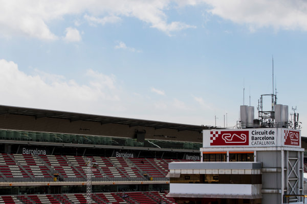 2017 FIA Formula 2 Round 2. Circuit de Catalunya, Barcelona, Spain. Thursday 11 May 2017. A view of a grandstand. Photo: Zak Mauger/FIA Formula 2. ref: Digital Image _54I6837