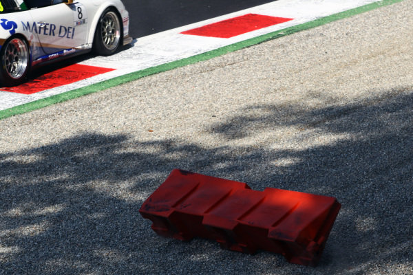 Circuit furniture in the gravel trap.