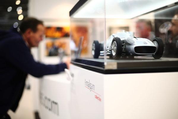 Autosport International Exhibition. National Exhibition Centre, Birmingham, UK. Saturday 13th January, 2018. An Amalgam Mercedes on display.World Copyright: James Roberts/JEP/LAT Images Ref: JR3_5693