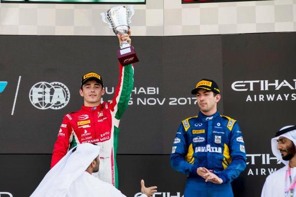 2017 FIA Formula 2 Round 11. Yas Marina Circuit, Abu Dhabi, United Arab Emirates. Sunday 26 November 2017. Charles Leclerc (MCO, PREMA Racing).  Photo: Zak Mauger/FIA Formula 2. ref: Digital Image _56I2519
