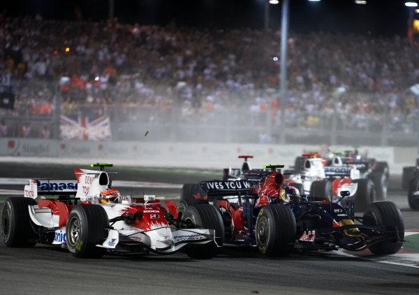 2008 Singaopore GP - Sunday RaceMarina Bay Circuit, Singapore, Singapore.28th September 2008.xxxWorld Copyright: Steve Etherington/ LAT Photographicref: Digital Image SNE18852