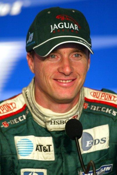 Eddie Irvine (GBR) Jaguar finished third.Italian Grand Prix Race, Monza, 15 September 2002.DIGITAL IMAGE