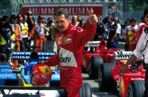 Michael Schumacher (GER) Ferrari completely dominated the event