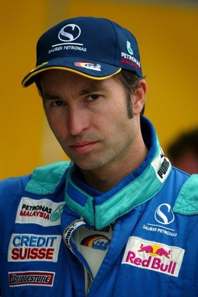 Heinz-Harald Frentzen (GER) Sauber.Formula One World Championship, Rd15, United States Grand Prix, Indianapolis, USA, 26 September 2003.DIGITAL IMAGE