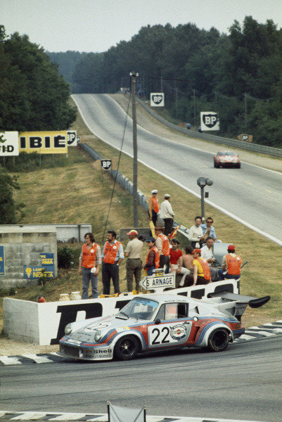 Le Mans, France. 15-16 June 1974.Gijs van Lennep/Herbert Muller (Porsche Turbo RSR), 2nd position.World Copyright: LAT PhotographicRef: 74LM12