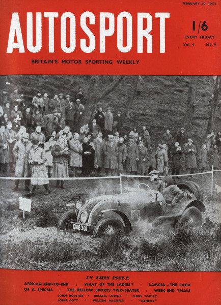 Cover of Autosport magazine, 29th February 1952
