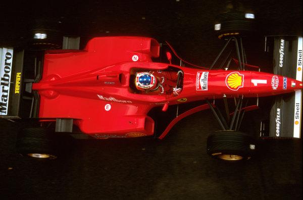 Imola, Italy.3-5 May 1996.Michael Schumacher (Ferrari F310) 2nd position.Ref-96 SM 09.World Copyright - LAT Photographic