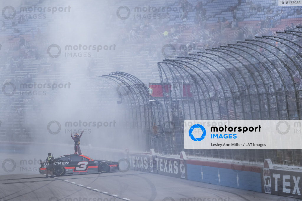 #3: Austin Dillon, Richard Childress Racing, Chevrolet Camaro celebrates with a burnout