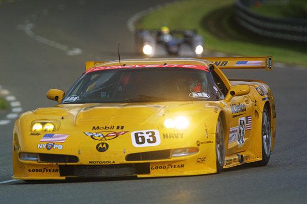 Wednesday Practice Session, Le Mans, France.Wednesday 12th June 2002Oliver Gavin (Chevrolet Corvette C5R).World Copyright LAT Photographic/Jennifer Cullis