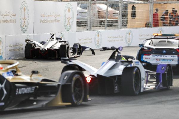 Sam Bird (GBR), Envision Virgin Racing, Audi e-tron FE06, car after crashing