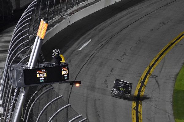 #1: Hailie Deegan, Team DGR, Ford F-150 Monster Energy finishes.