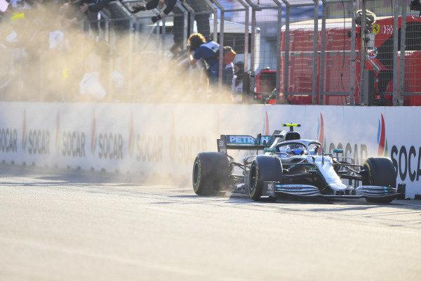 Valtteri Bottas, Mercedes AMG W10, 1st position, takes victory