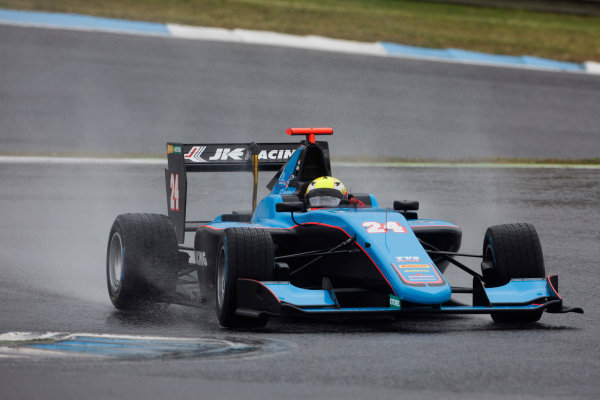 2017 GP3 Series Testing Estoril, Portugal. Wednesday 22 March 2017 Arjun Maini (IND, Jenzer Motorsport). Action.  Photo: Alastair Staley/GP3 Series Media Service ref: Digital Image 585A1252