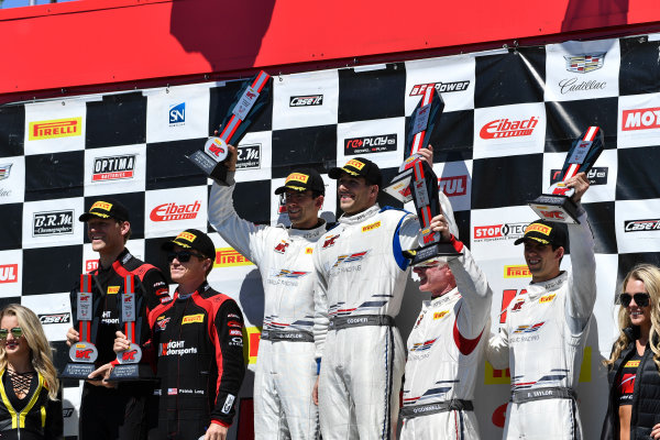 Pirelli World Challenge Victoria Day SpeedFest Weekend Canadian Tire Motorsport Park, Mosport, ON CAN Saturday 20 May 2017 Patrick Long/Joerg Bergmeister, Jordan Taylor/ Michael Cooper ,Johnny O'Connell/Ricky Taylor World Copyright: Richard Dole/LAT Images ref: Digital Image RD_CTMP_PWC17098