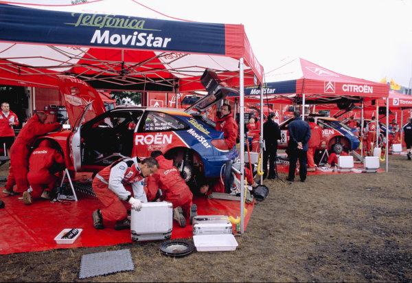 2003 World Rally ChampionshipRally Deutschland, Germany. 25th - 27th July 2003.Colin McRae / Derek Ringer, Citroen Xsara service area scene.World Copyright: McKlein/LAT Photographicref: 35mm Image A17
