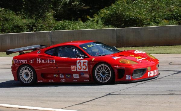 23-25 September 2004, ALMS Petit LeMans, Road Atlanta, Braselton, Georgia, USAFabrizio De Simone driving his stint in the Risi Ferrari 360 Modena GTC.C: 2004, Denis L. Tanney, World