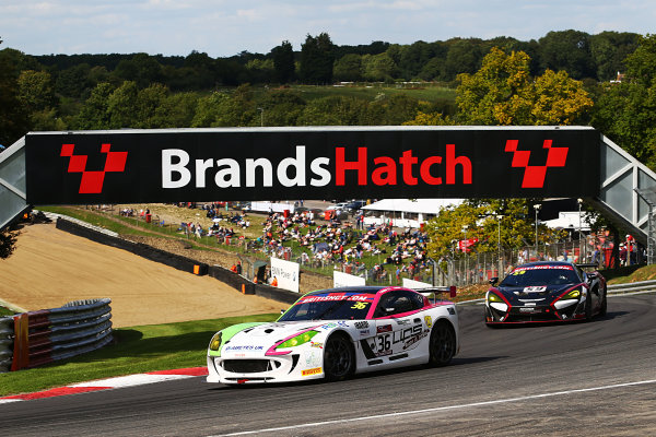 2017 British GT Championship, Brands Hatch, 5th-6th August 2017, Benjamin Wallace / Adam Hatfield - Autoaid/RCIB Insurance Racing - Ginetta G55 GT4 World Copyright. JEP/LAT Images